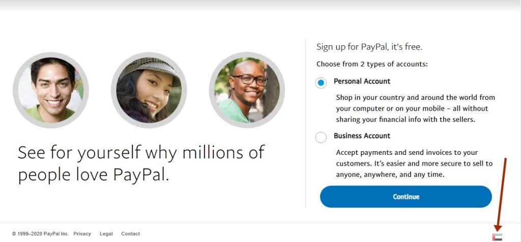 Dubai PayPal sign up